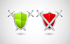 Vector clipart: security concept, shield and swords