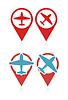 Векторный клипарт: набор указателей с самолета