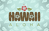 Vector clipart: Hawaii and aloha word
