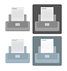 Vector clipart: set of printer icons