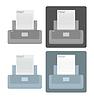 Векторный клипарт: набор иконок для принтеров
