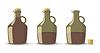 ID 5129933 | Set of wine bottles | Stock Vector Graphics | CLIPARTO