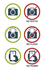 Vector clipart: set of prohibition icons