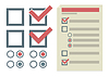 Vector clipart: simple design elements for To Do list