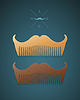 stylish comb in shape of mustaches