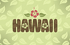 Vector clipart: Hawaii in vintage colors
