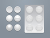 white round pills and blister pack