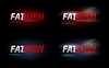 Vector clipart: Fat Burn text for dieting or sport nutrition