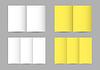 Vector clipart: folded paper leaflets