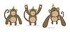 set of monkeys in punk style