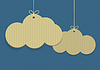 Vector clipart: clouds shaped shopping tags
