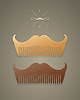 trendy comb in shape of mustaches
