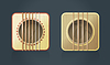 классические гитары квадратных иконок для музыкального программного обеспечения
