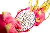 三火龙果,选择的重点在中间的一个 | 免版税照片