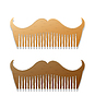hipster style combs in shape of mustaches