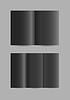 Vector clipart: simple folded black paper leaflets