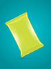 Vector clipart: green foil bag template for potato chips, coffee,