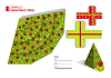 Векторный клипарт: Сделай сам шаблон для елки и коробки