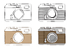 Vector clipart: retro cameras