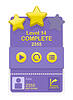 Vector clipart: game interface with level results
