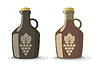 Vector clipart: set of two wine bottles