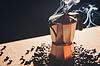 Photo 300 DPI: Still life with Italian coffee maker and roasted