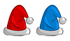 two Santa Claus hats