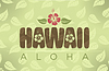 Hawaii word in vintage colors
