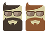 cartoon male faces with hipster beards