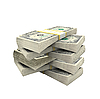 Wiele dolarów na białym tle | Stock Foto