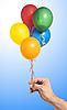 ID 3019826 | Hand gospodarstwa kolorowe balony powietrza | Foto stockowe wysokiej rozdzielczości | KLIPARTO