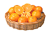 Oranges isolated on white | Stock Foto