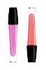 Zwei Lippenstifte (Glanz) von rosa Farbe | Stock Foto