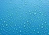 Piękne niebieskie krople wody tło | Stock Foto