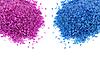 Pink and blue sea bath salt | Stock Foto