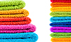 Stacked colorful towels | Stock Foto