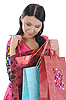 Beautiful girl with shopping bags | Stock Foto