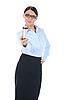 Photo 300 DPI: Portrait of young businesswoman.