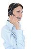 ID 3021607 | Piękne młoda kobieta w słuchawek | Foto stockowe wysokiej rozdzielczości | KLIPARTO