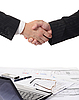 Handshake of two business partners | Stock Foto