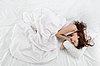 Woman sleeping on the bed | Stock Foto