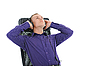 Man with headphones listening the music | Stock Foto