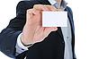 ID 3021841   Man handing blank business card   High resolution stock photo   CLIPARTO