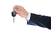 Businessman gives the keys to the car | Stock Foto