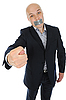 Businessman with hand outstretched | Stock Foto