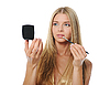 ID 3021884   Piękna kobieta robi makijaż   Foto stockowe wysokiej rozdzielczości   KLIPARTO