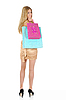 Beautiful blonde with shopping bags | Stock Foto