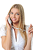 Beautiful woman with phone in his hand | Stock Foto
