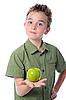 Boy holding an apple | Stock Foto