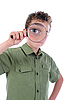 ID 3021936 | Boy looking through magnifying glass | High resolution stock photo | CLIPARTO